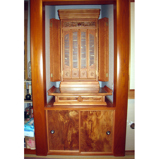 屋久杉製木製家具 仏壇その3