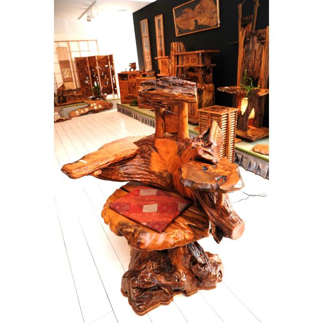 屋久杉製逸品椅子|木製家具