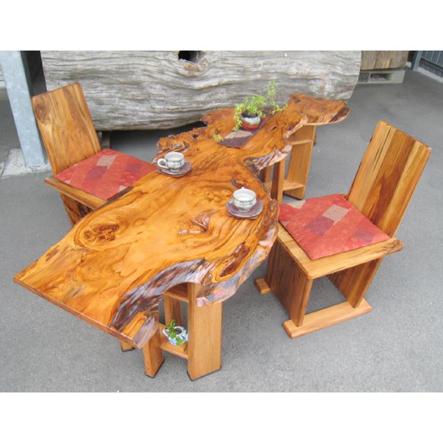 屋久杉製ダイニングセット|木製家具