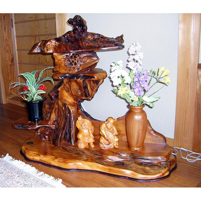 屋久杉製灯篭(とうろう) 木製家具