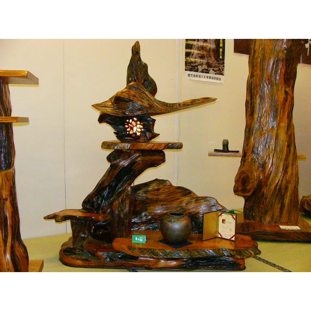 屋久杉製木製家具 灯篭(とうろう)その2