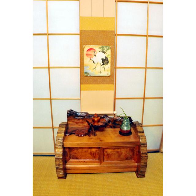 屋久杉製木製家具|置床(おきどこ)その2