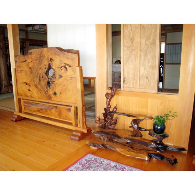 屋久杉製木製家具|衝立(ついたて)その3