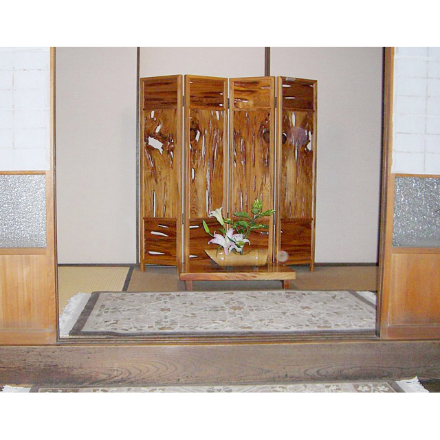 屋久杉製木製家具|衝立(ついたて)その4