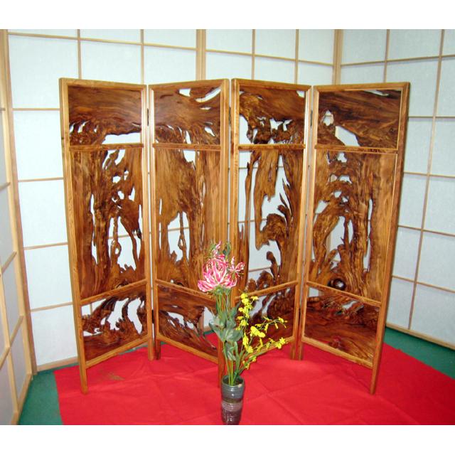 屋久杉製木製家具|衝立(ついたて)その6
