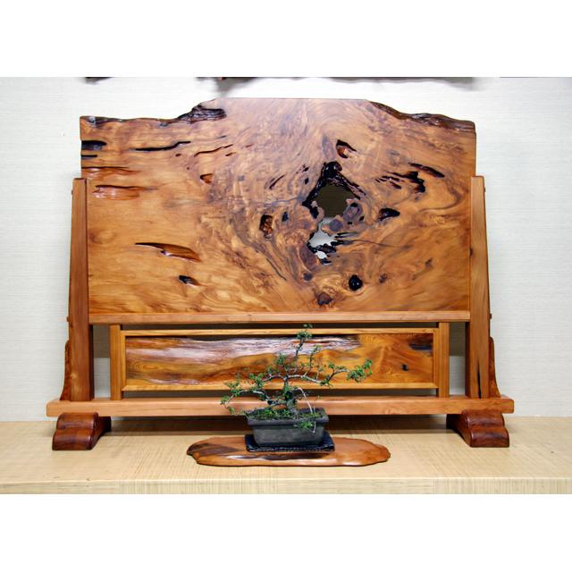 屋久杉製木製家具|衝立(ついたて)その8