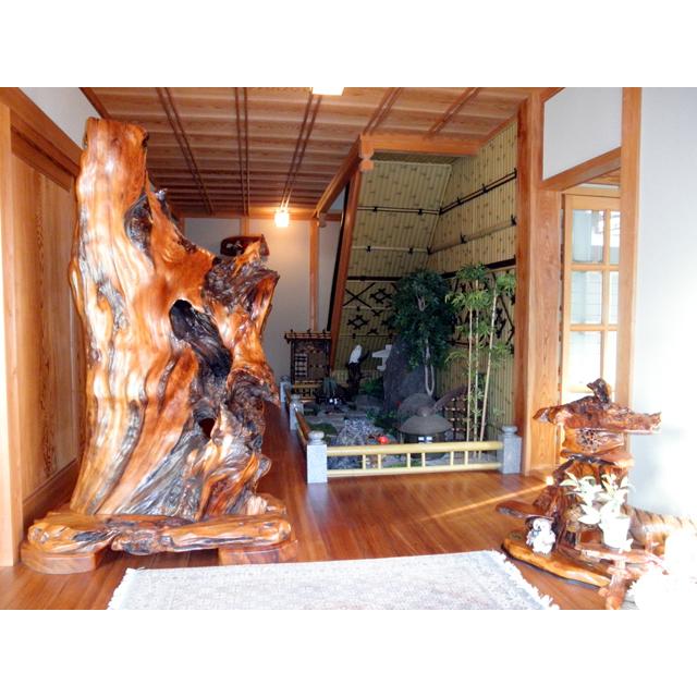 屋久杉製木製家具|衝立(ついたて)その14