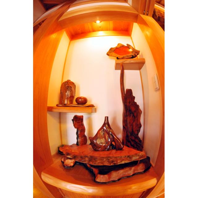 屋久杉製木製家具|衝立(ついたて)その15