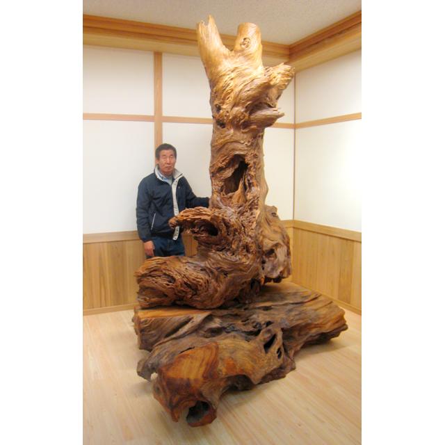 屋久杉製木製家具|衝立(ついたて)その16