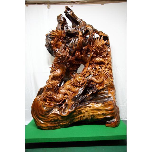 屋久杉製木製家具|彫刻その4