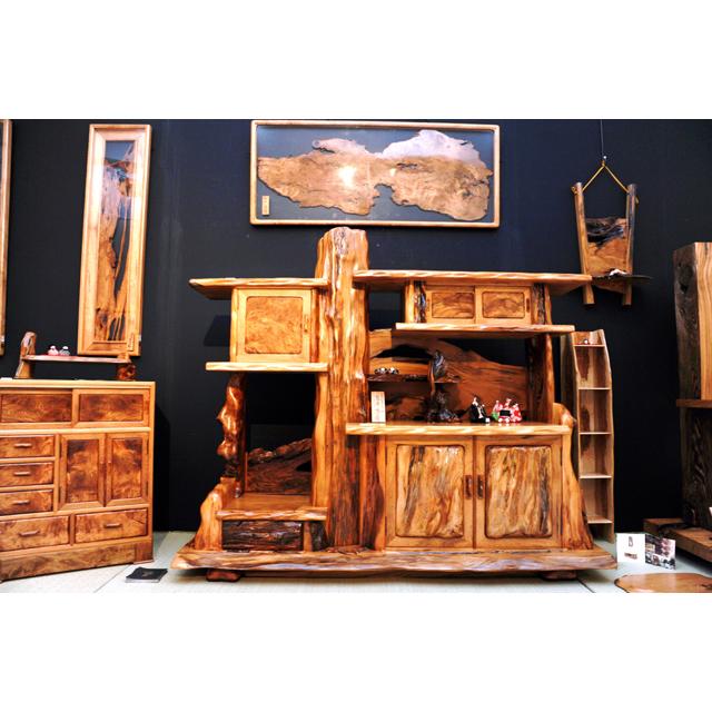 屋久杉製木製家具|飾り棚その3