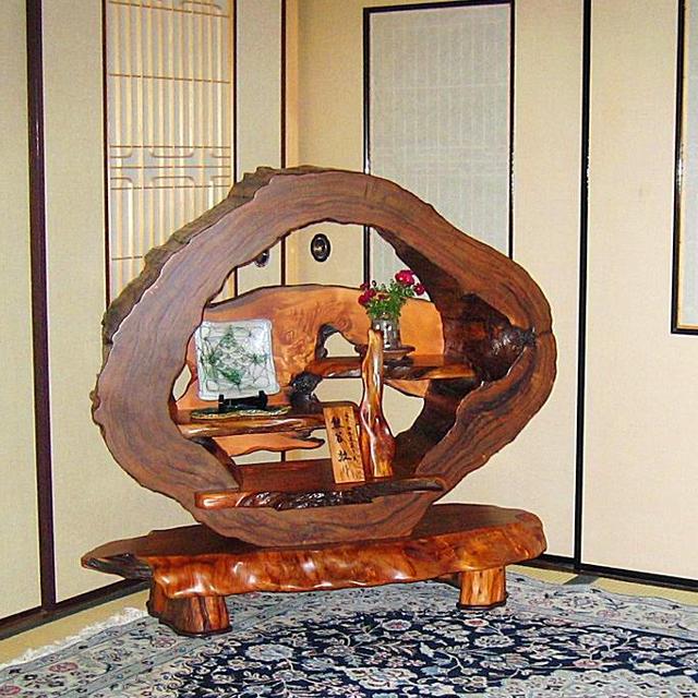 屋久杉製木製家具|飾り棚その4