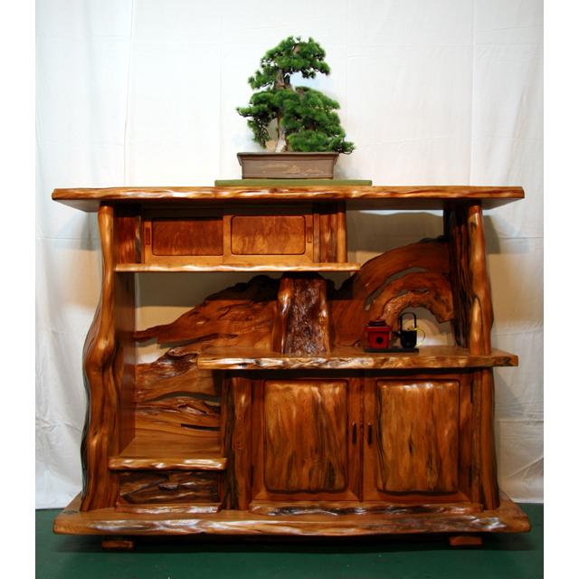 屋久杉製木製家具|飾り棚その7