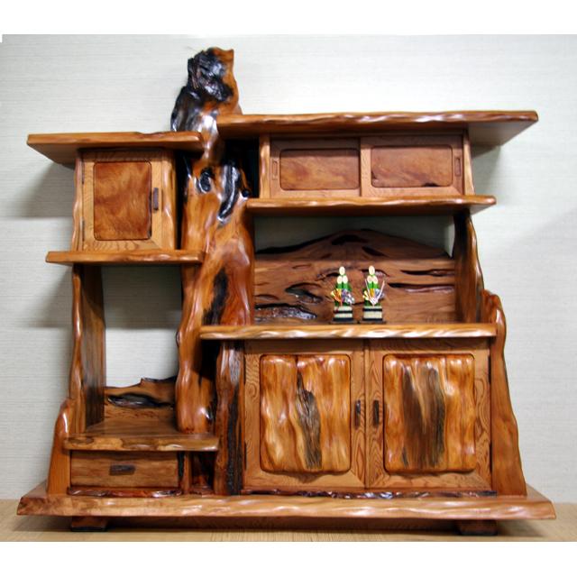 屋久杉製木製家具|飾り棚その8