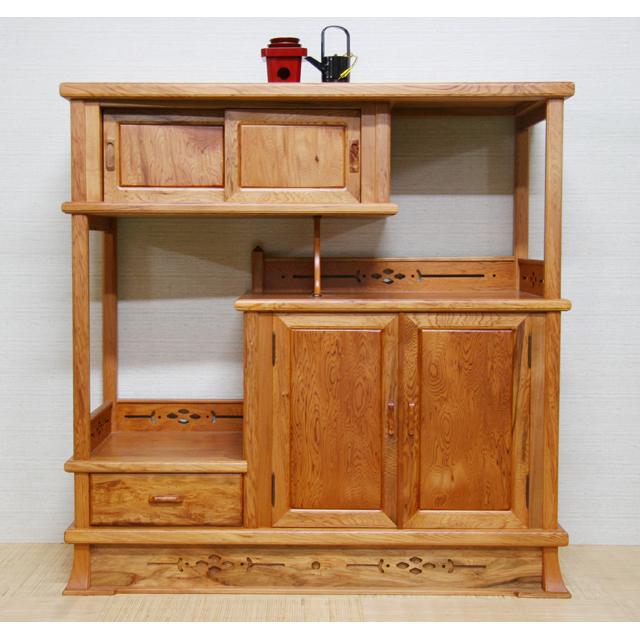 屋久杉製木製家具|飾り棚その10
