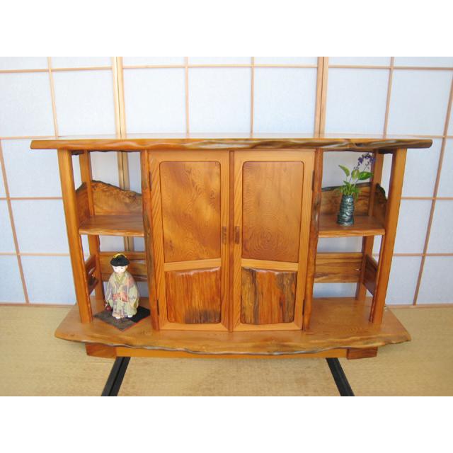 屋久杉製木製家具|飾り棚その13