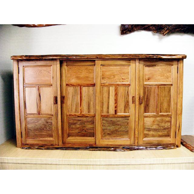 屋久杉製木製家具|下駄箱その3
