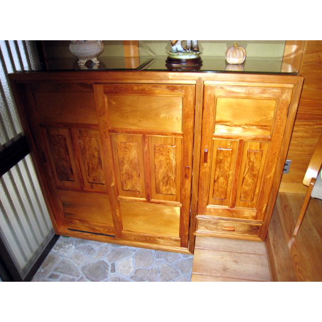 屋久杉製木製家具|下駄箱その4