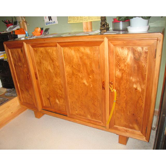 屋久杉製木製家具|下駄箱その6