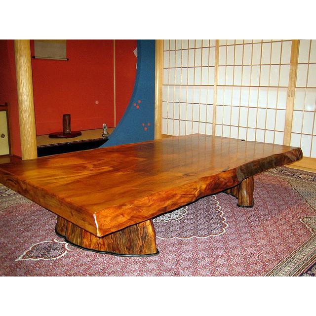 屋久杉製テーブル 木製家具