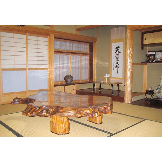 屋久杉製木製家具 テーブルその2