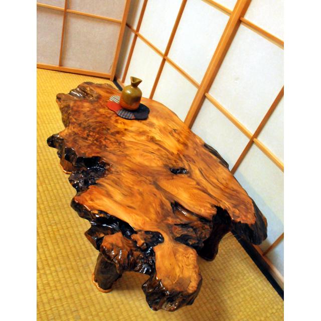 屋久杉製木製家具 テーブルその4