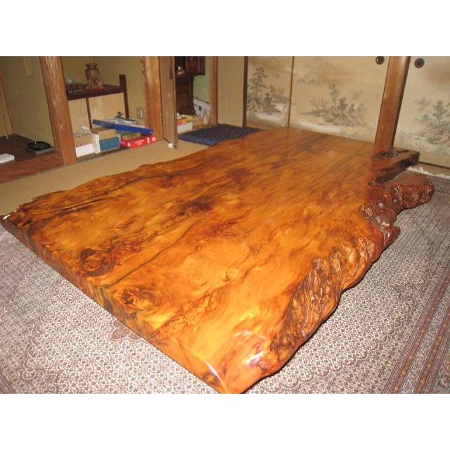 屋久杉製木製家具 テーブルその5
