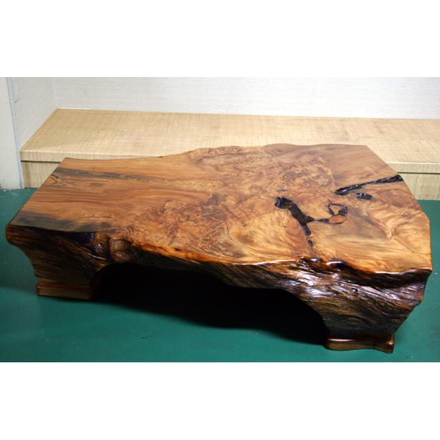 屋久杉製木製家具 テーブルその6