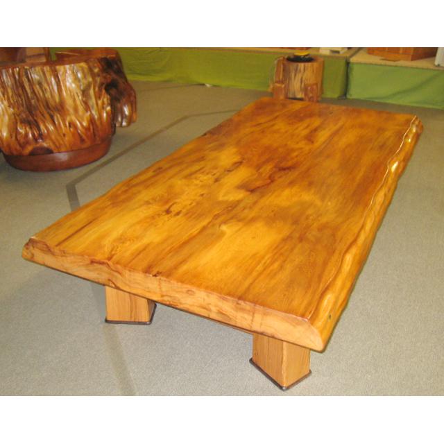 屋久杉製木製家具 テーブルその8