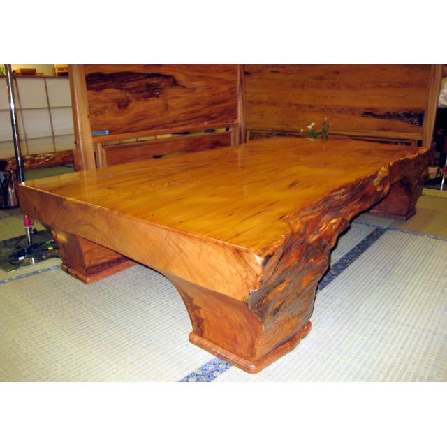 屋久杉製木製家具 テーブルその9