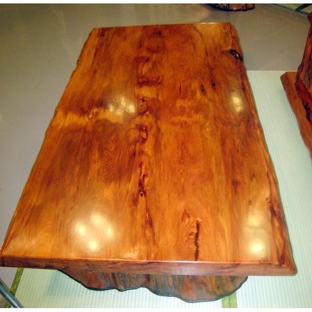 屋久杉製木製家具 テーブルその10