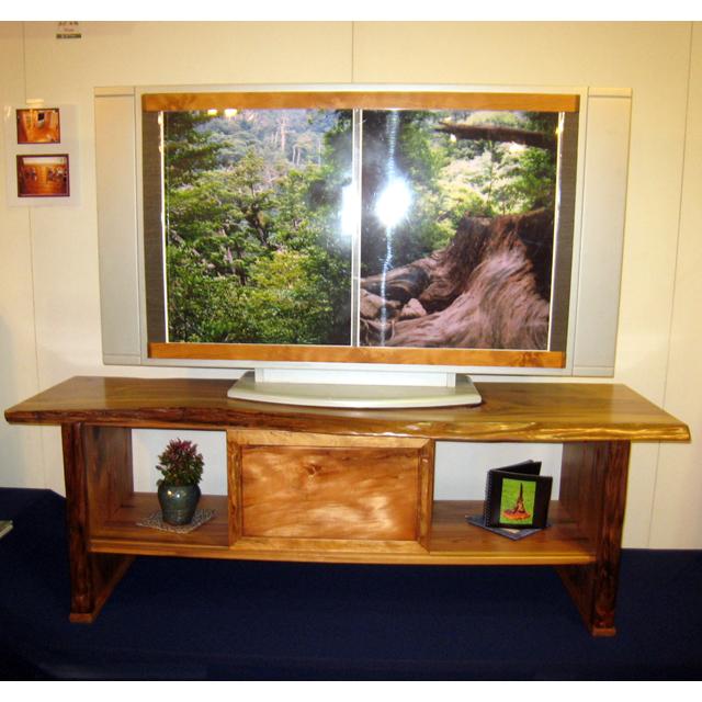 屋久杉製TVボード 木製家具